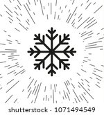 vector icon snowflake against... | Shutterstock .eps vector #1071494549