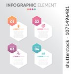 colorful banner hexagon... | Shutterstock .eps vector #1071496481