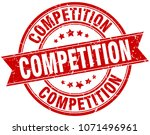 competition round grunge ribbon ... | Shutterstock .eps vector #1071496961