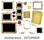 a set of vintage photo frames... | Shutterstock . vector #107149829