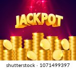 jackpot in the form of gold... | Shutterstock .eps vector #1071499397