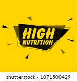 high nutrition  square sign or... | Shutterstock .eps vector #1071500429
