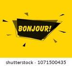 bonjour  square sign or label... | Shutterstock .eps vector #1071500435