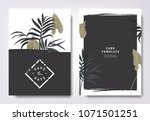 botanical wedding invitation... | Shutterstock .eps vector #1071501251