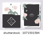botanical wedding invitation... | Shutterstock .eps vector #1071501584