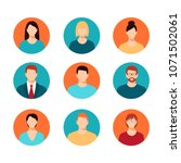 avatar profile icon set...   Shutterstock .eps vector #1071502061
