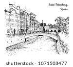 view of saint petersburg ...   Shutterstock .eps vector #1071503477
