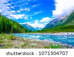 Mountain river landscape. river ...