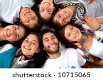 happy group of friends smiling... | Shutterstock . vector #10715065