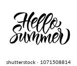 phrase hello summer. brush... | Shutterstock .eps vector #1071508814