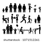stick figure family  people... | Shutterstock .eps vector #1071512261