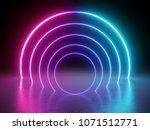 3d render  glowing lines ... | Shutterstock . vector #1071512771