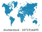 color world map vector | Shutterstock .eps vector #1071516695