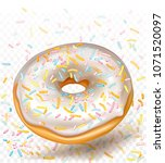 vector icon donut with white...   Shutterstock .eps vector #1071520097