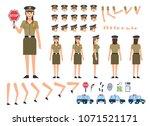 cheerful policewoman creation... | Shutterstock .eps vector #1071521171