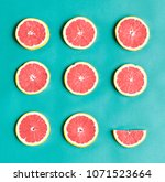 aerial view of colorful citrus... | Shutterstock . vector #1071523664