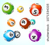 realistic detailed 3d lotto... | Shutterstock .eps vector #1071534335