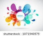 abstract colored flower... | Shutterstock .eps vector #1071540575
