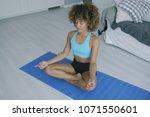 beautiful sportive woman...   Shutterstock . vector #1071550601