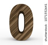 number 0 3d wooden isolated on... | Shutterstock . vector #1071552641