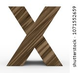 letter x 3d wooden isolated on... | Shutterstock . vector #1071552659
