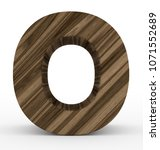 letter o 3d wooden isolated on... | Shutterstock . vector #1071552689