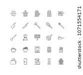kitchen outline icon 25 | Shutterstock .eps vector #1071554171