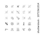 space outline icons 25 | Shutterstock .eps vector #1071561314