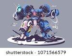 brutal guy in combat... | Shutterstock .eps vector #1071566579