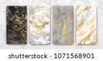 gold  black  white marble... | Shutterstock .eps vector #1071568901