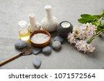 composition of bath spa... | Shutterstock . vector #1071572564
