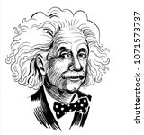 Albert Einstein. Ink Black And...