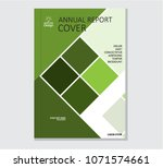 annual business report cover... | Shutterstock .eps vector #1071574661