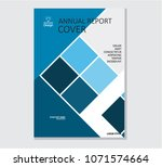 annual business report cover... | Shutterstock .eps vector #1071574664