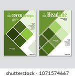 annual business report cover... | Shutterstock .eps vector #1071574667