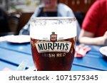 a glass of murphy's irish stout ...