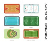 set of sport courts  grounds... | Shutterstock .eps vector #1071575399