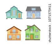 detailed cottage or country...   Shutterstock .eps vector #1071575411
