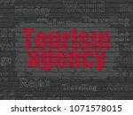 travel concept  painted red... | Shutterstock . vector #1071578015