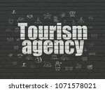 travel concept  painted white... | Shutterstock . vector #1071578021
