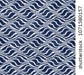 abstract hypnotic zigzag folk... | Shutterstock . vector #1071580157
