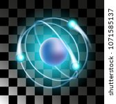 vector. the atom is increased....   Shutterstock .eps vector #1071585137