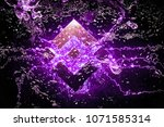 cryptocurrency binance coin... | Shutterstock . vector #1071585314