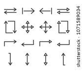arrows line icon set | Shutterstock .eps vector #1071589034