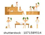 sauna and steam house loving... | Shutterstock .eps vector #1071589514