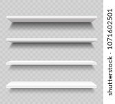 empty store shelves for product.... | Shutterstock .eps vector #1071602501