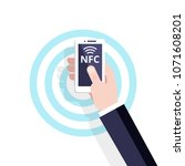 mobile payment with nfc... | Shutterstock .eps vector #1071608201