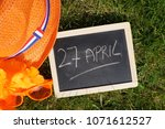 27th of april written in dutch... | Shutterstock . vector #1071612527
