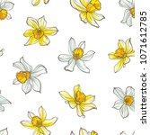 seamless floral pattern on... | Shutterstock .eps vector #1071612785