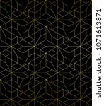 abstract geometric pattern with ... | Shutterstock .eps vector #1071613871